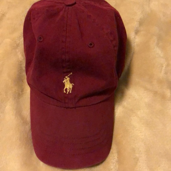 Vintage Dad Leather Polo Strapback Hat LVzMGqpSU